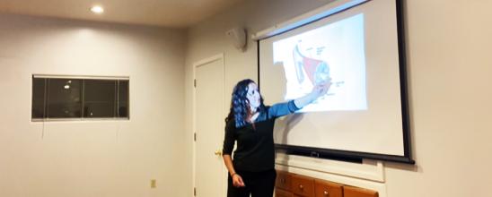 adrienne teaching a class image