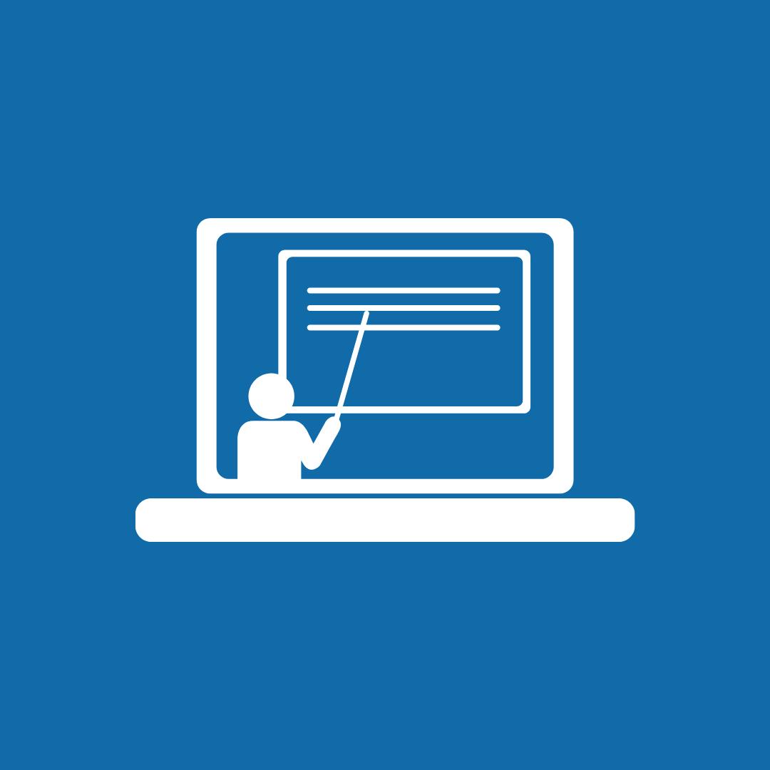 blue education icon image