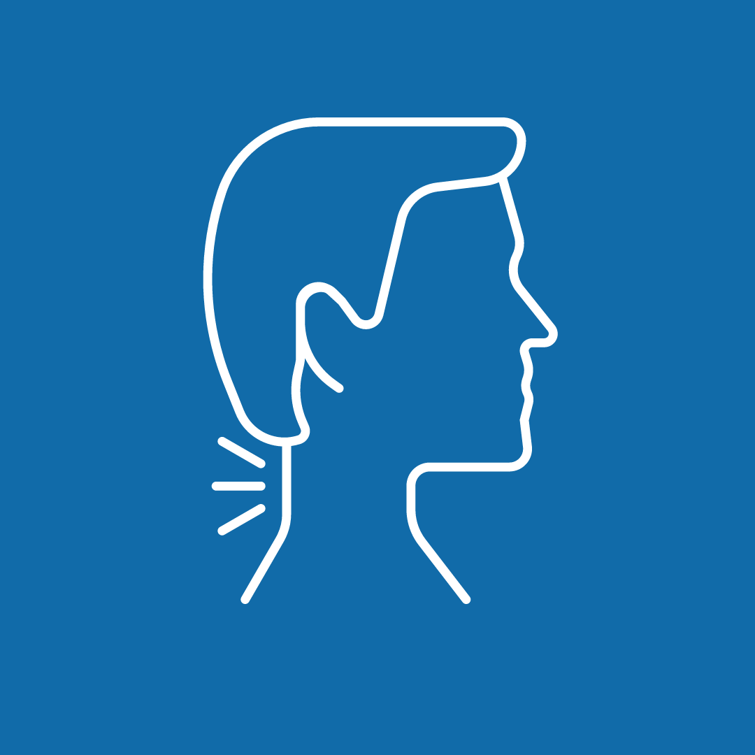 blue pain in the neck icon image